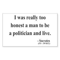 Socrates 11 Rectangle Sticker