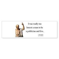 Socrates 11 Bumper Sticker
