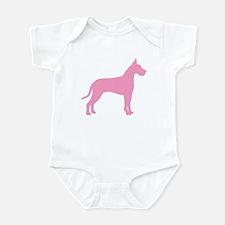 Pink Great Dane Infant Bodysuit