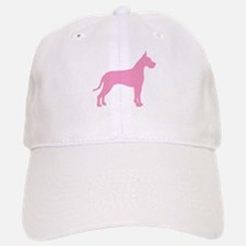 Pink Great Dane Baseball Baseball Cap