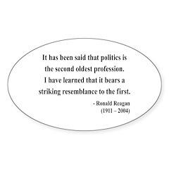 Ronald Reagan 8 Oval Decal