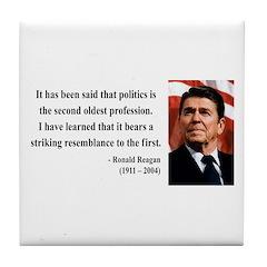 Ronald Reagan 8 Tile Coaster