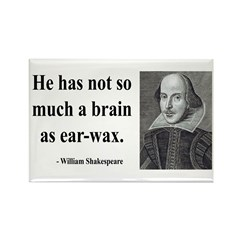 Shakespeare 25 Rectangle Magnet