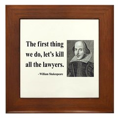 Shakespeare 14 Framed Tile