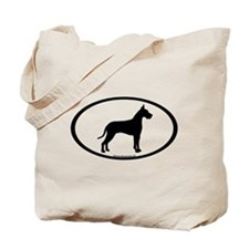 great dane oval Tote Bag