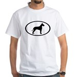 great dane oval White T-Shirt