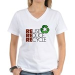 Reuse Reduce Recycle Women's V-Neck T-Shirt