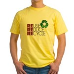 Reuse Reduce Recycle Yellow T-Shirt