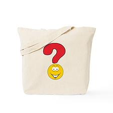 Smiley Face Question Mark Design Tote Bag