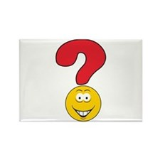 Smiley Face Question Mark Design Rectangle Magnet