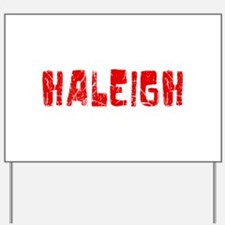 Haleigh Faded (Red) Yard Sign