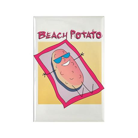 Beach Potato Rectangle Magnet (100 pack)