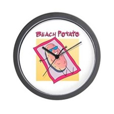 Beach Potato Wall Clock