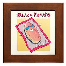 Beach Potato Framed Tile