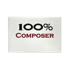 100 Percent Composer Rectangle Magnet