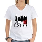 New York Women's V-Neck T-Shirt