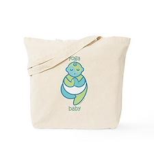Yoga Baby : Blue & Green Tote Bag