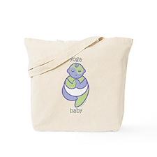 Yoga Baby : Purple & Green Tote Bag