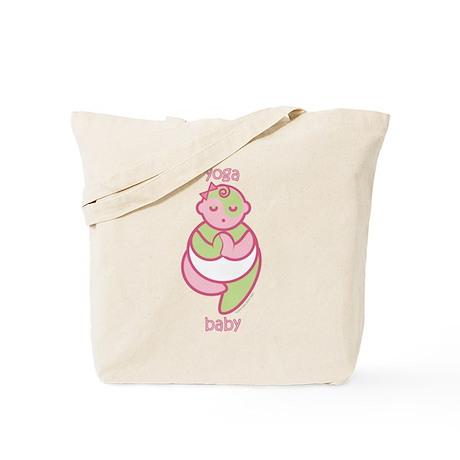 Yoga Baby : Pink & Green Tote Bag