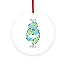 Yoga Baby : Blue & Green Ornament (Round)
