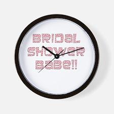 Bridal Shower Wall Clock