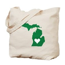 Green Michigan Tote Bag