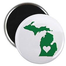 Green Michigan Magnet
