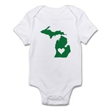 Green Michigan Infant Bodysuit