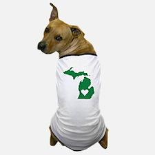 Green Michigan Dog T-Shirt