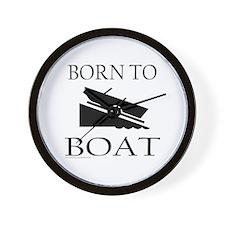 BORN TO BOAT Wall Clock