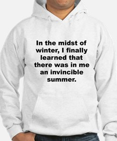 Winters quotation Hoodie
