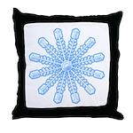 Flurry Snowflake V Throw Pillow