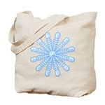 Flurry Snowflake V Tote Bag