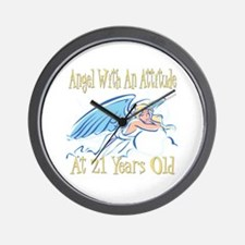 Angel Attitude 21st Wall Clock