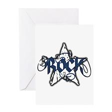 Rock Star (Distressed Blue) Greeting Card