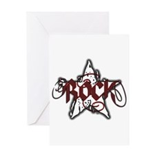 Rock Star (Distressed Red) Greeting Card