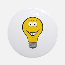 Smiley Face Light Bulb Ornament (Round)