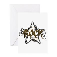 Rock Star (Distressed Yellow) Greeting Card