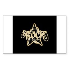 Rock Star (Distressed Yellow) Rectangle Decal