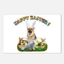 GSD Easter Bunny Postcards (Package of 8)
