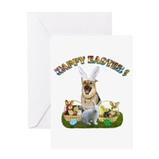 GSD Easter Bunny Greeting Card