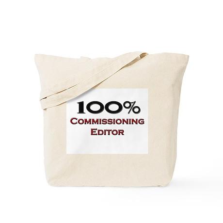 100 Percent Commissioning Editor Tote Bag