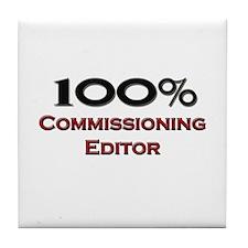100 Percent Commissioning Editor Tile Coaster