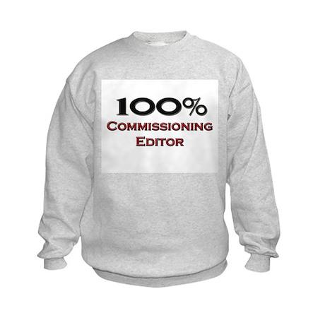 100 Percent Commissioning Editor Kids Sweatshirt