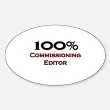 100 Percent Commissioning Editor Oval Decal