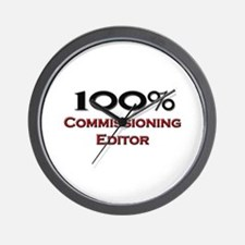 100 Percent Commissioning Editor Wall Clock
