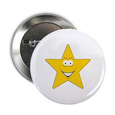 """Star Smiley Face 2.25"""" Button"""
