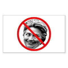 Anti-Hillary Clinton Rectangle Sticker 10 pk)