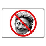 No hillary Banners