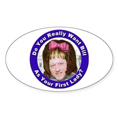 Stop the Clintons Oval Sticker (10 pk)